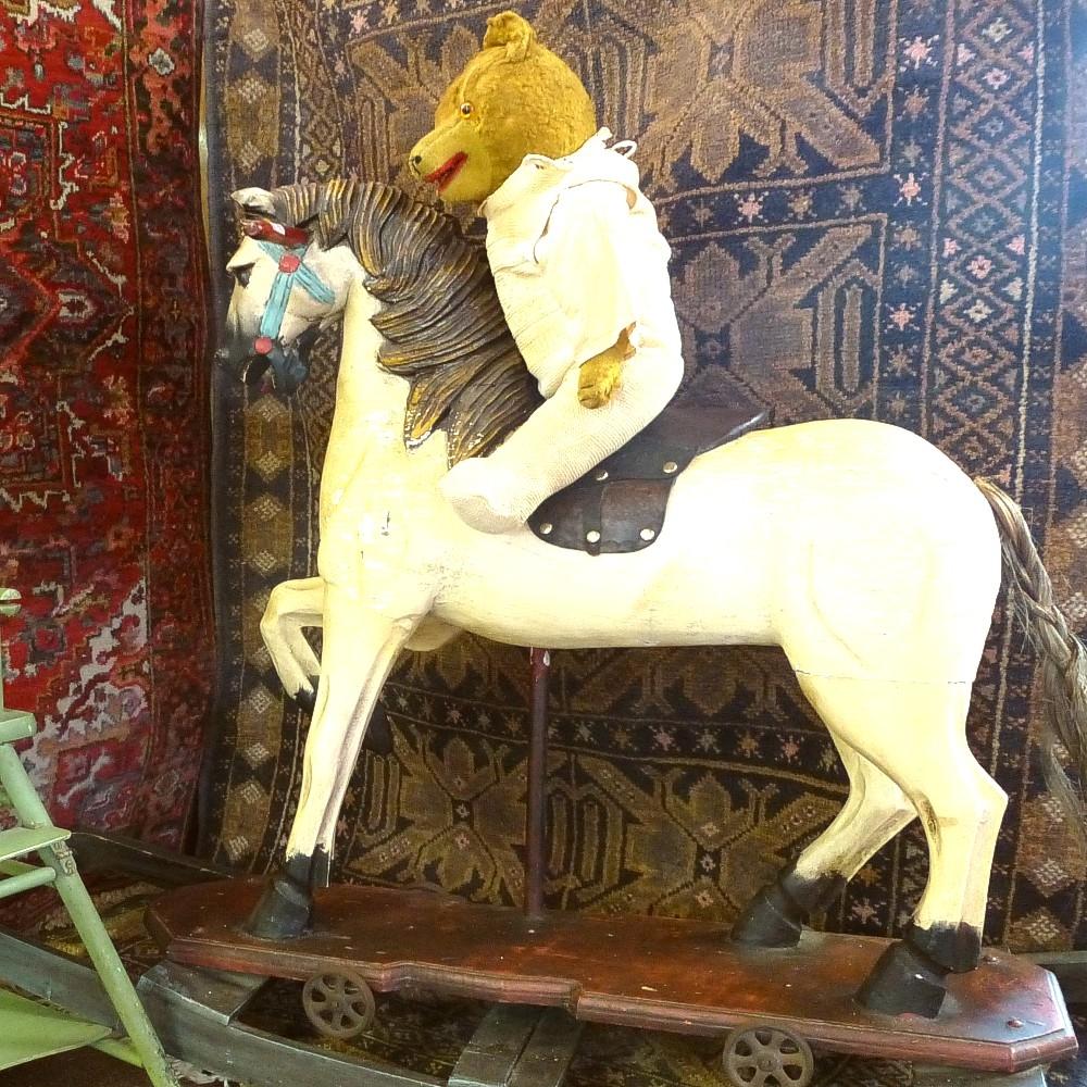 Platform-rocking-horse