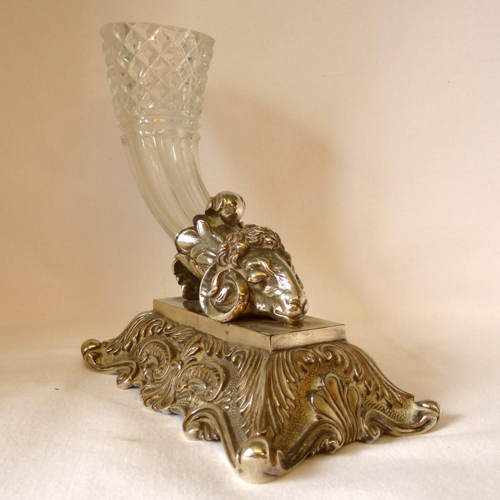 Silver-plate-cornucopia-vase-ram