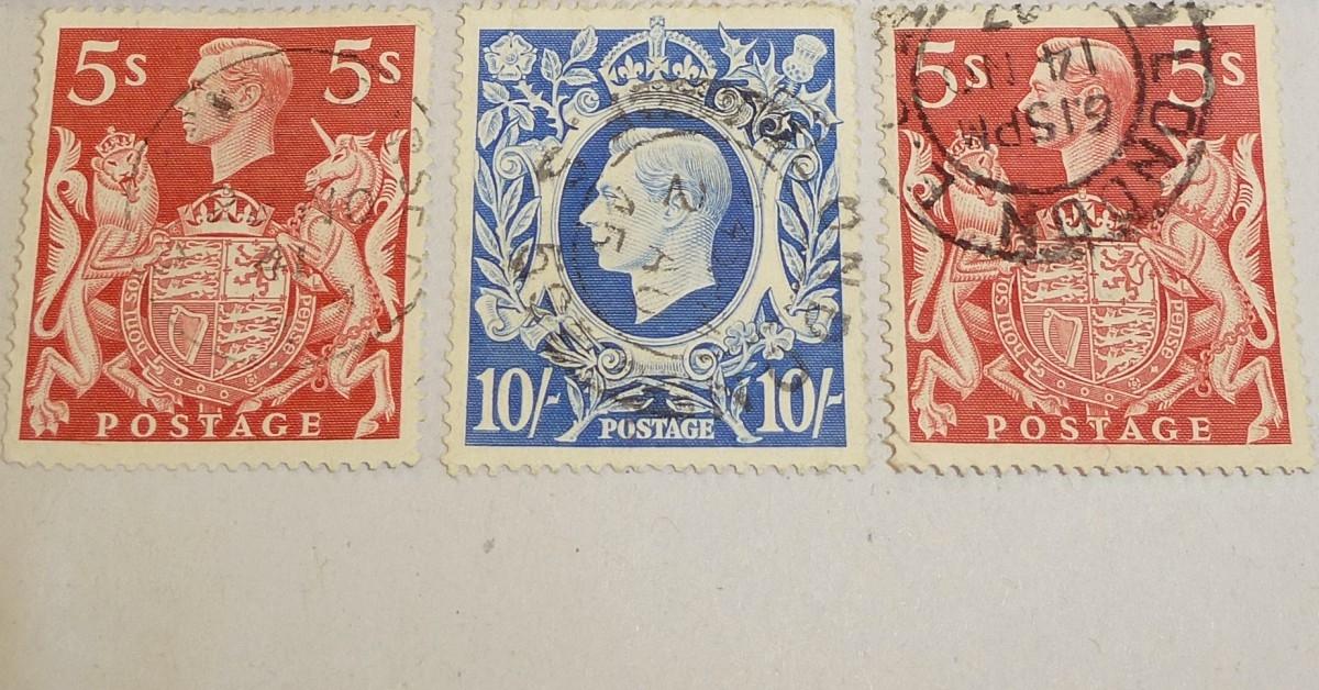 Vintage-stamps-George VI